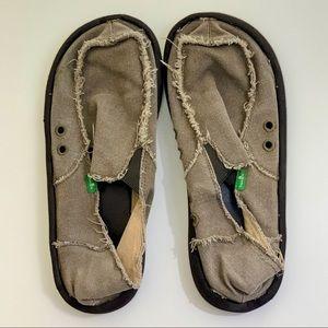 Sanuk Slip On Comfort Flats